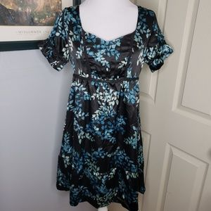 NWT Romy Dress black Floral Print Size Medium
